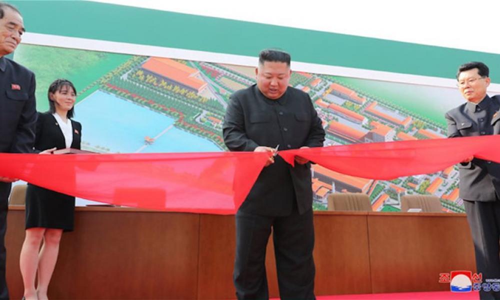 Κιμ Γιονγκ Ουν εγκαίνια