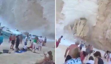 Κατολίσθηση σπέρνει τον πανικό σε παραλία της Ζακύνθου! | ΒΙΝΤΕΟ