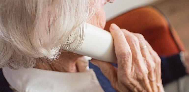 ηλικιωμένη τηλεφωνική απάτη