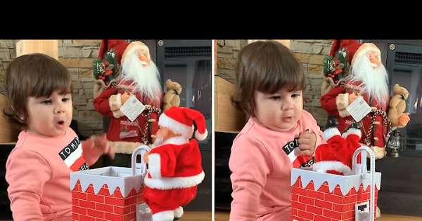Πιτσιρικά ανοίγει το χριστουγεννιάτικο δώρο και ΤΡΕΛΑΙΝΕΤΑΙ από τη χαρά της!   ΒΙΝΤΕΟ