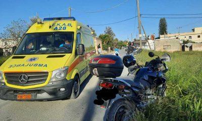 τροχαιο ατυχημα κρητη εκαβ ασθενοφορο