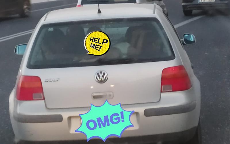 καταγγελια στο Ηρακλειο για αυτοκινητο με μωρο στην εταζερα